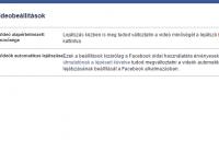 Facebook automatikus lejátszás kikapcsolása